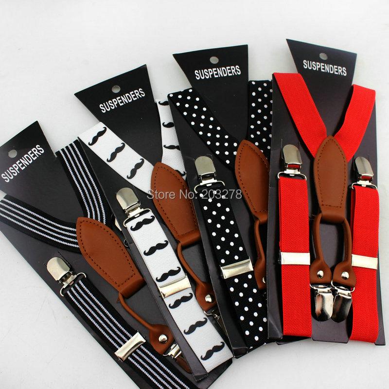 retail kids Braces suspenders Children boys girls Clip on Adjustable Y back Suspender Elastic belts straps