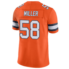 Men's #58 Von Miller 13 Trevor Siemian Orange Color Rush Limited Embroidery Logos and 100% Stitched Free Shipping(China (Mainland))