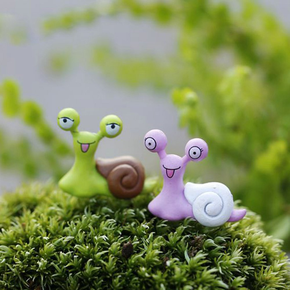 Home Decoration Accessories Cartoon Snails Model Decorative PVC Craft Mini Animal For Small Flower Pot Bonsai Decor Waterproof(China (Mainland))