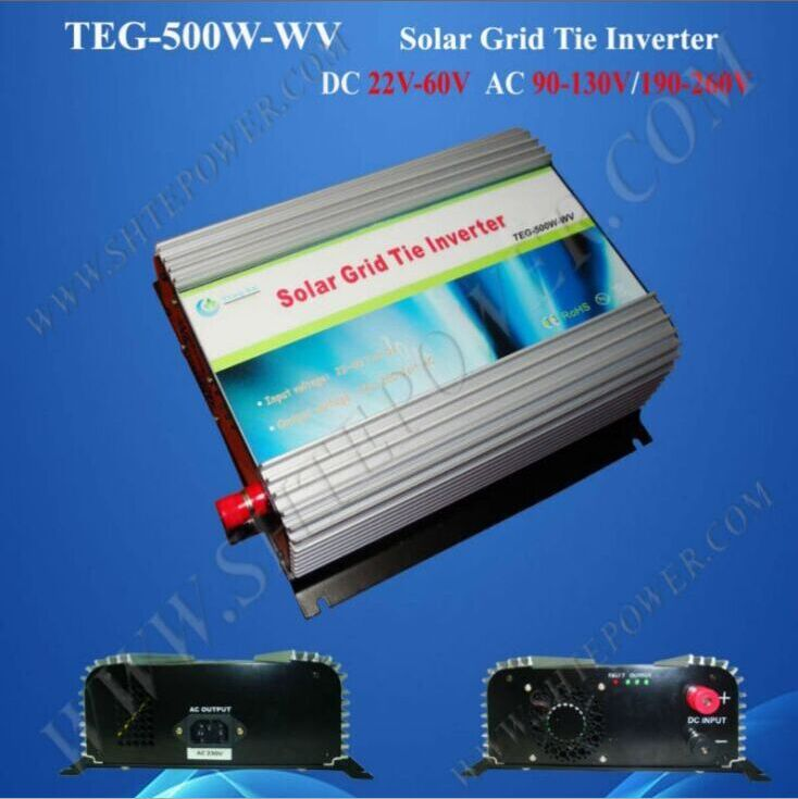 Shipping free solar power grid tie inverter 24v , 500w micro inverters grid tied for solar system(China (Mainland))