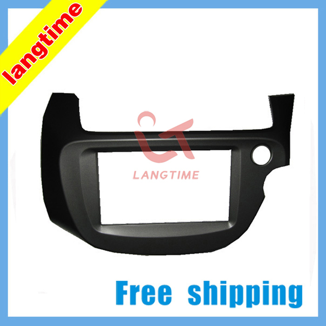 Free shipping-Car refitting DVD frame,DVD panel,Dash Kit,Fascia,Radio Frame for 2008 Honda Fit Jazz ( Right Hand), 2DIN