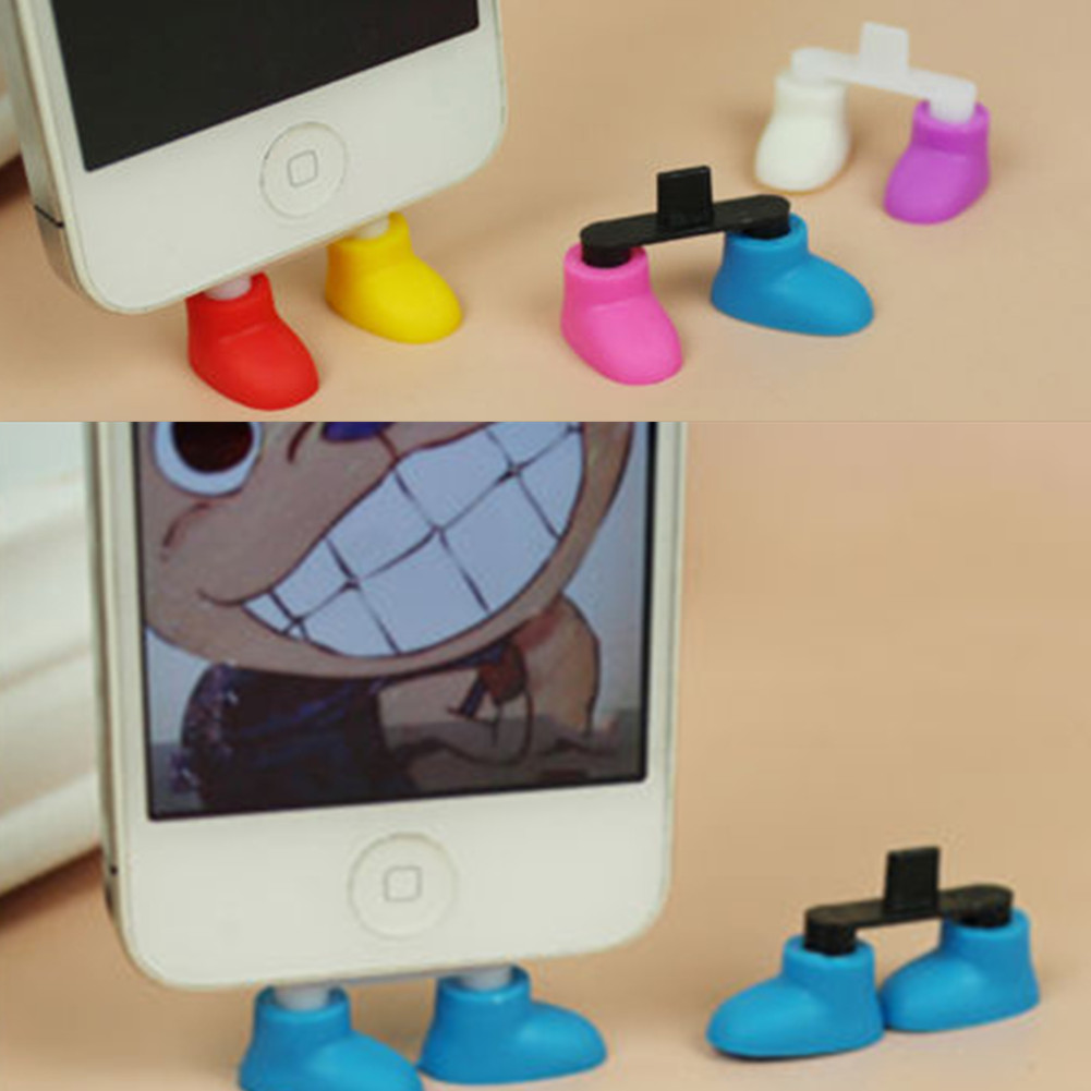Shoe Foot Shape Dustproof Usb Charger Port Plug Stand Holder Gadget For Phone 5 Free Shipping IyB9(China (Mainland))