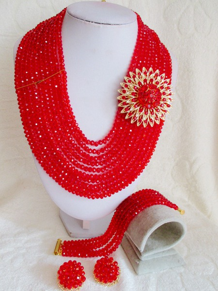 Classic new african beads Jewelry set crystal beads necklace set nigerian wedding african jewelry set free shipping  WI-2083<br><br>Aliexpress
