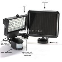 CE certificated Solar Ultra Bright 240 Lumens 60 LEDs Motion Sensor Security Light Flood Lamp Outdoor Garden Spotlights(China (Mainland))