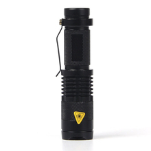 Mini Flash Light Q5 2000 Lumens LED Flashlight Waterproof Focus Led Camping Lantern Torch Spotlight For Hunting,Use 14500 AA(China (Mainland))