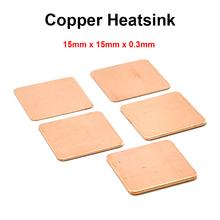 10pcs lot 15x15x0 3mm DIY Copper Shim Heatsink thermal Pad Cooling for Laptop BGA CPU VGA
