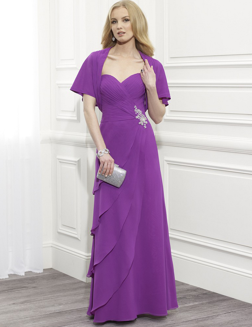 Purple Plus Size Mothers Dresses Discount Evening Dresses