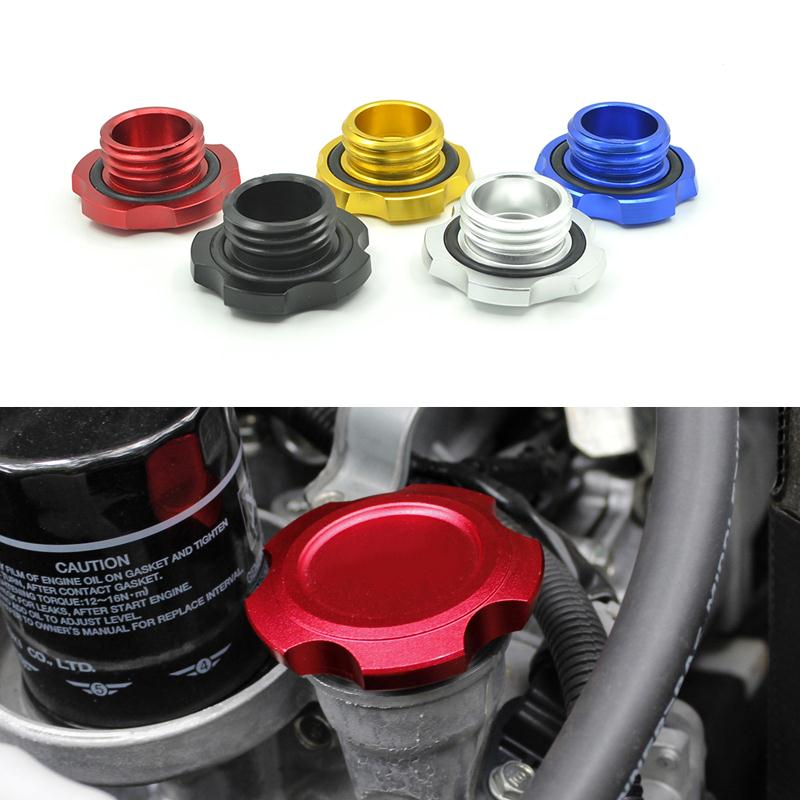 Car Styling Oil Filter Cap Fuel Tank Cover For Subaru Forester Outback XV Tribeca BRZ Impreza 5 Colors Aluminum High Quality