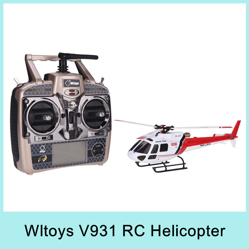 Original Wltoys V931 6CH RC Helicopter Brushless Motor Flybarless w/ 3 Axis & 6 Axis Gyro 3 Blade AS350 Scale(China (Mainland))