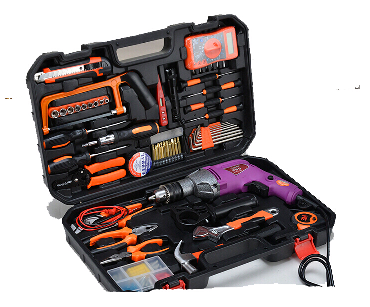 Здесь можно купить  Multifunctional tool DIY wood electric Household home use Drill set and full tools set Open hole tool  Инструменты