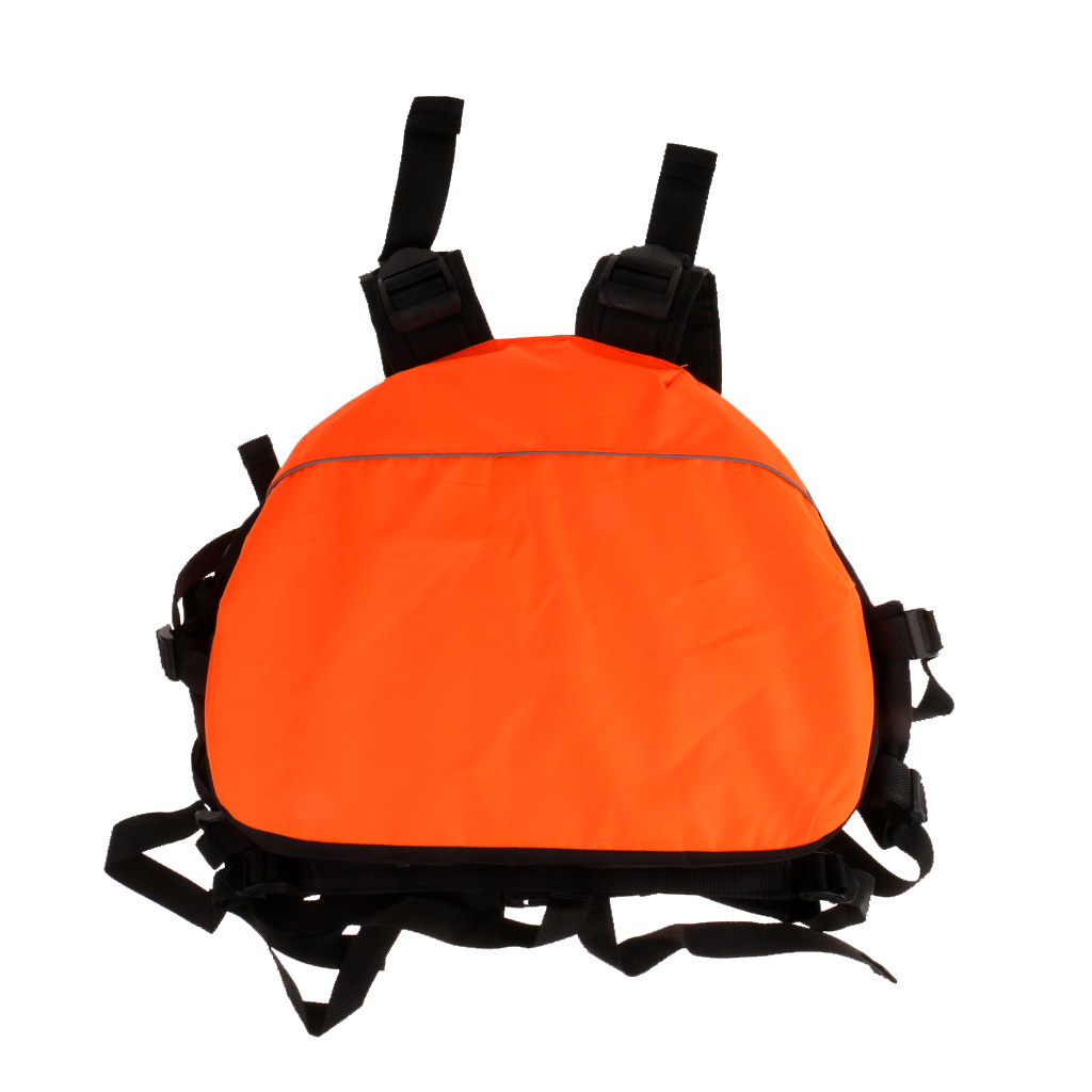 1 Pc Adult Boating Lightweight Adjustable Life Jackets Universal PFD Vest for Swimming Motor Boat Surfing Sailing Fishing Orange