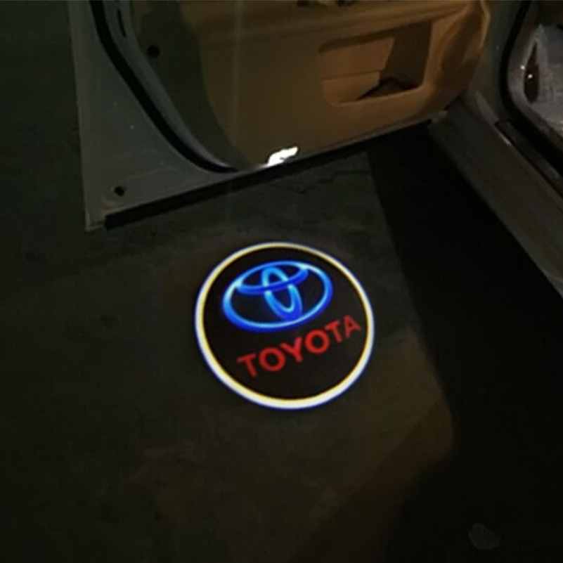 LED Car door Courtesy laser projector LED Logo Ghost Shadow light For TOYOTA Reiz Crown Prius Reiz Camry HighLander Corolla(China (Mainland))
