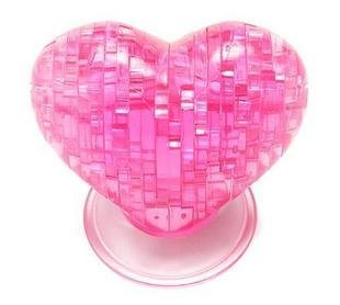 Light heart Puzzle,3D Puzzle Crystal Decoration Red Green Apple Jigsaw Puzzle IQ Gadget Hobby Toy Gift, Free Shipping