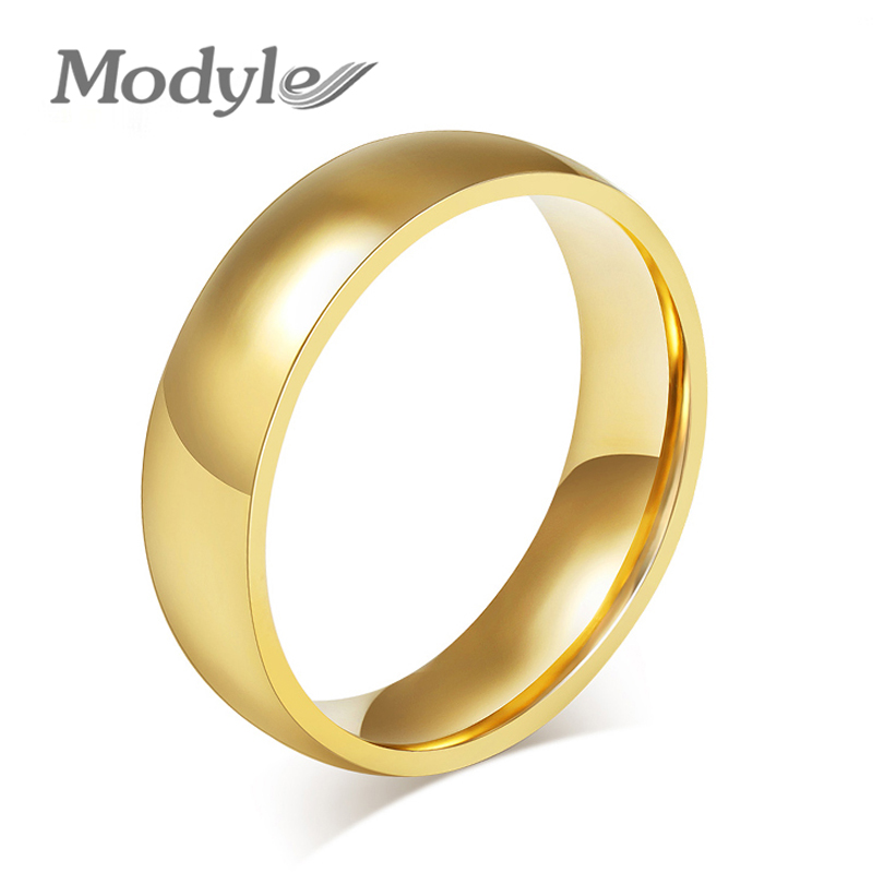 Promotion 18K Gold Plated Ring Wedding Rings for Men Women Stainless Steel Couple Jewelry Wholesale(China (Mainland))