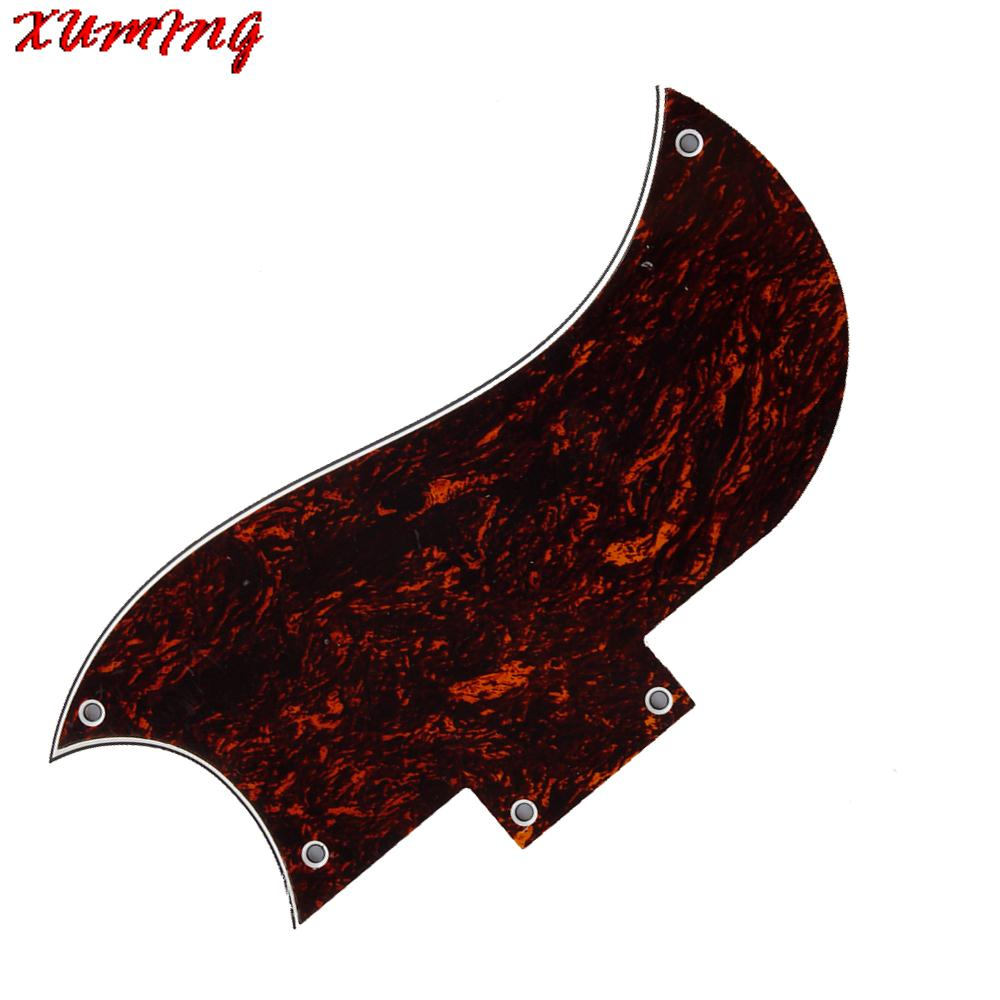 Brown Tortoise Shell Pickguard Scratchplate for Gb SG Electric Guitar 3 Ply 5 Holes(China (Mainland))
