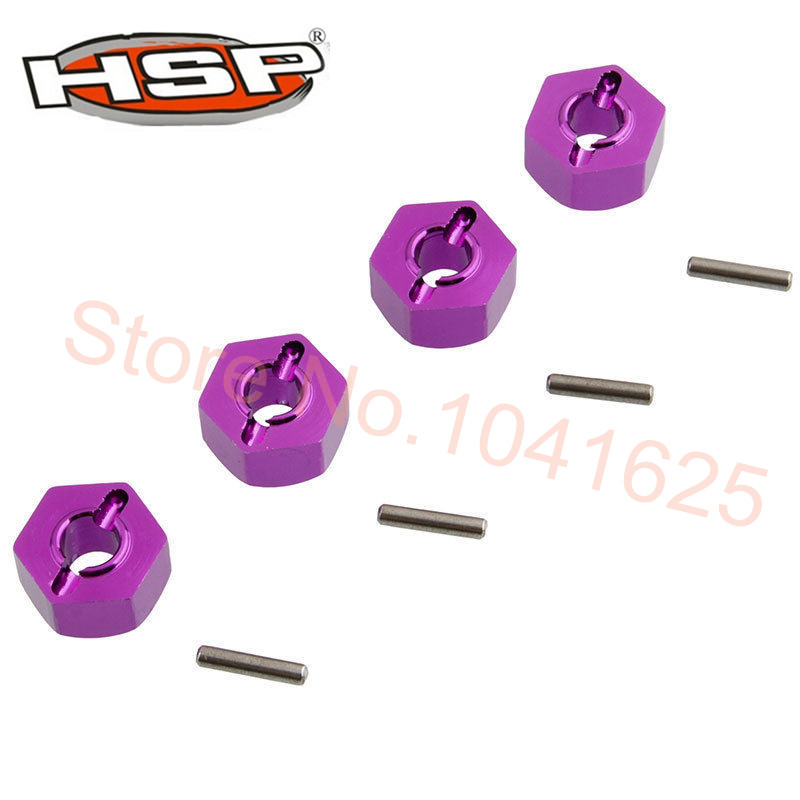 4P/Lot  Aluminum Wheel Hex Nut 12MM 4P HSP 102042 (02134) 1/10 Upgrade Parts For 4WD RC Car Himoto 33009 Free Shipping