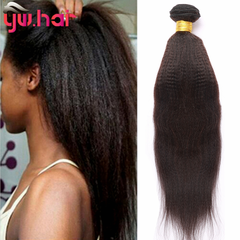 Brazilian 3 Bundles Yaki Straight Human Hair Unprocessed 100% Virgin Hair Wholesale Cheap Price No Smell 100g/Pcs On Sale<br><br>Aliexpress