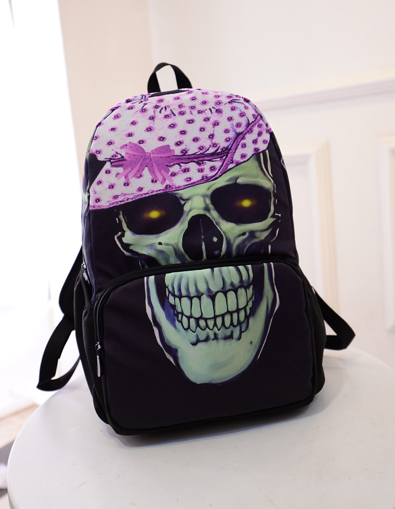 2015 New Design Black Skull Backpack for Children Cool ...