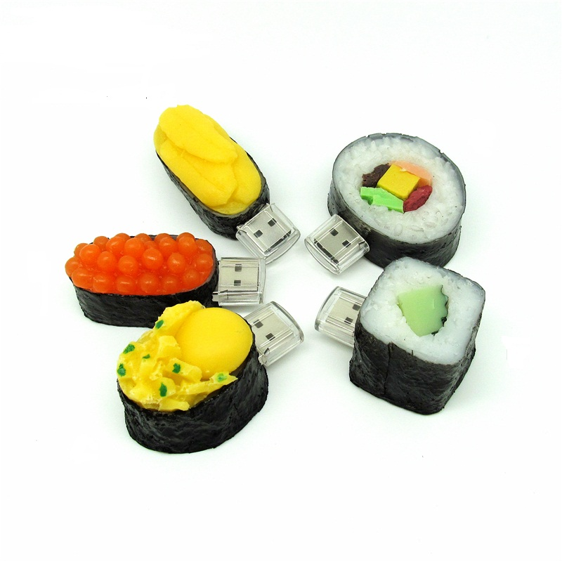 All kinds of sushi USB flash Drive Japanese food model usb2.0 pen drive 4G/8G/16G/32G Flash Memory Stick usb creativo pendrive(China (Mainland))