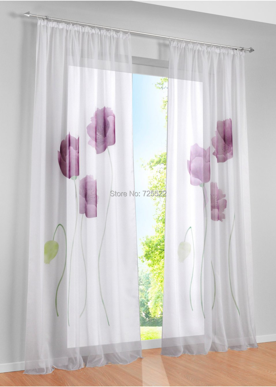 beautiful curtain window screening Balcony Sheer curtains for Living ...
