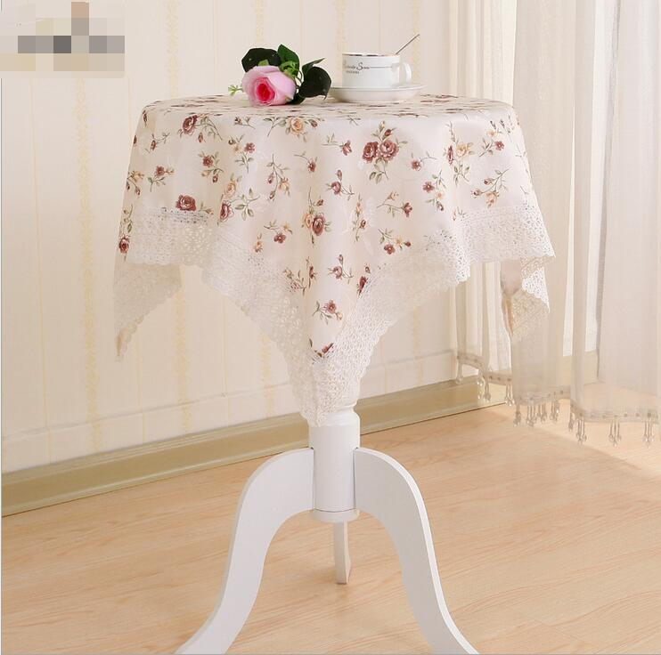 New arrivals dandelion cotton Linen table cloth for rectangular table cover cloth with lace edge more fashion hot sale(China (Mainland))