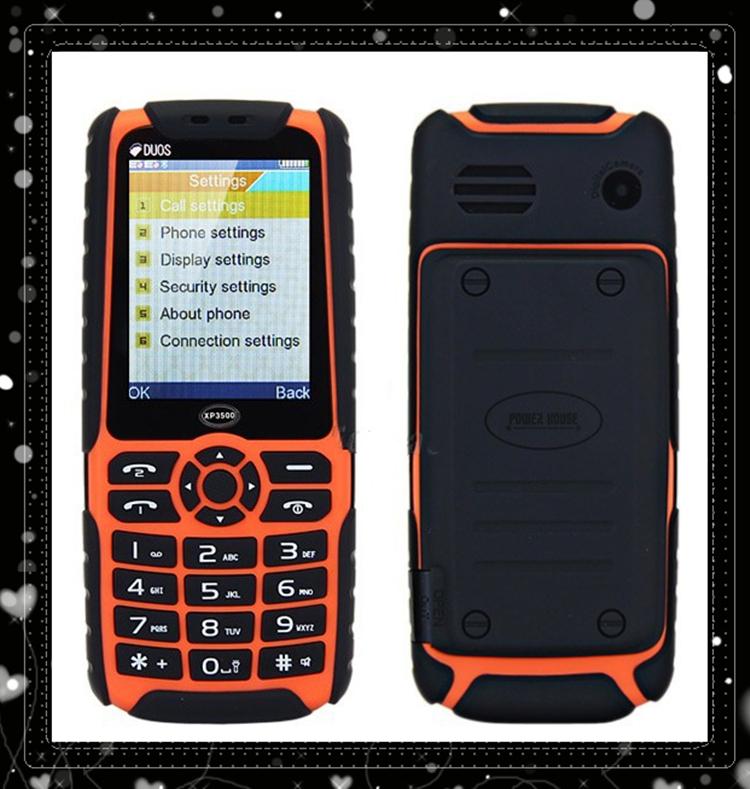 "XP3500 Outdoor sport Mobile Phone Dual SIM Standby Big Speaker Flashlight 12000mAh Dustproof Shockproof 2.4"" XP3500 Cell phone(China (Mainland))"