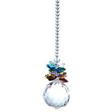 1 Crystal Ball Feng Shui Rainbow Hanging Lighting Prisms Wedding Deco Pendant M02522(China (Mainland))