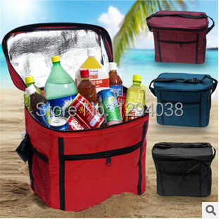 Top 27x24x17CM Large Thicken Folding Fresh Keeping Cooler Bag Lunch Bag For Food Fruit Seafood Steak