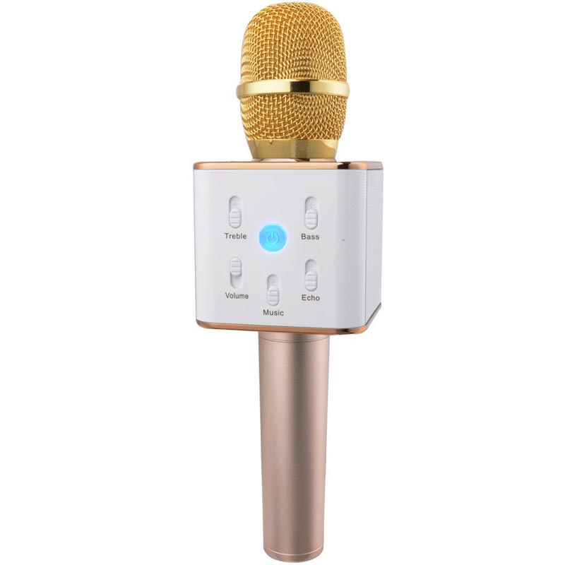 Black Friday Sale Wireless Handheld Microphone Bluetooth Portable KTV Karaoke Stereo Micropohone For SmartPhone KTV app mic Q7 A(China (Mainland))