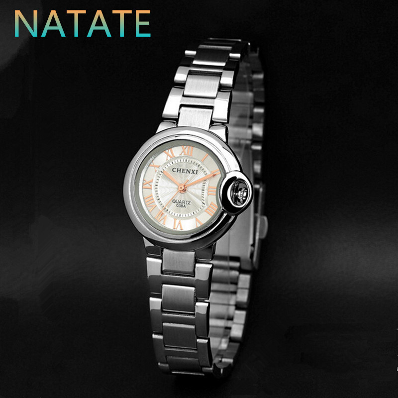NATATE Women Business Luxury CHENXI Brand Watch luxury Roman numerals popular Fashion Stainless Steel Wristwatch 1240(China (Mainland))