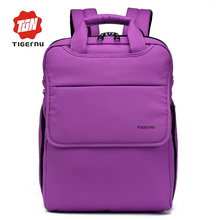 2016 Purple&Black Preppy Middle Student School Backpack Boys&Girls Book Bag for College Student TIGERNU BRAND Nylon Backpack(China (Mainland))