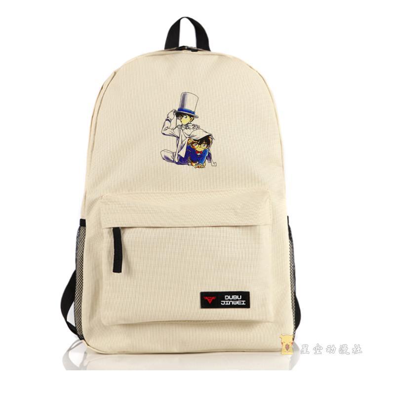 Detective Conan Case Closed Harajuku cartoon Oxford backpacks BAGS preppy Jimmy Kudo Kaitou Kiddo kid backpacks bags schoolbag(China (Mainland))