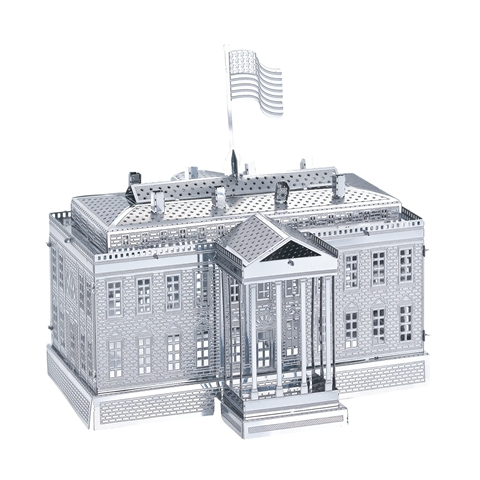 2015 Puzzles 3D 2015 Russia Brazil The White House 3D Nano metal DIY Puzzle Building educative toys for children birthday gift(China (Mainland))