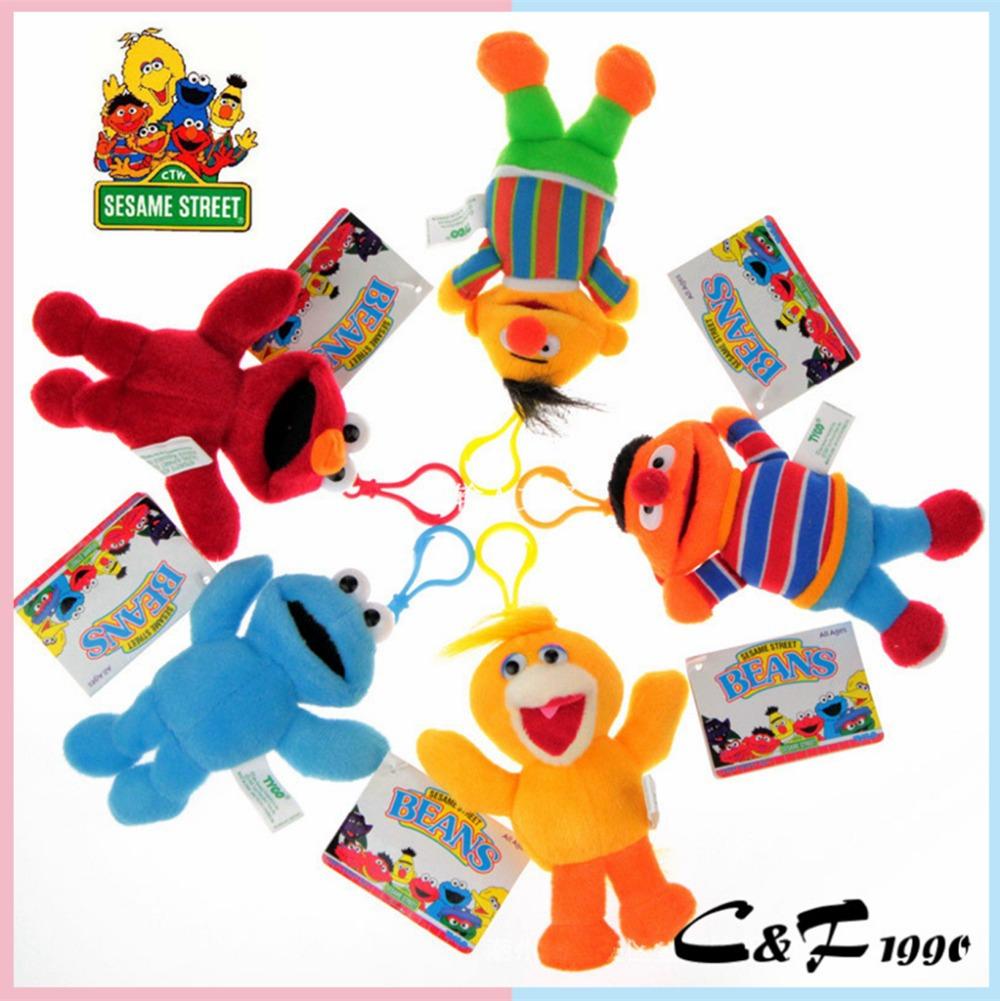 Genuine SESAME STREET Hanging Drop Cute Baby Boys Girls Puppet Plush Pendan Hangings Buckle plush toys Wholesale(China (Mainland))
