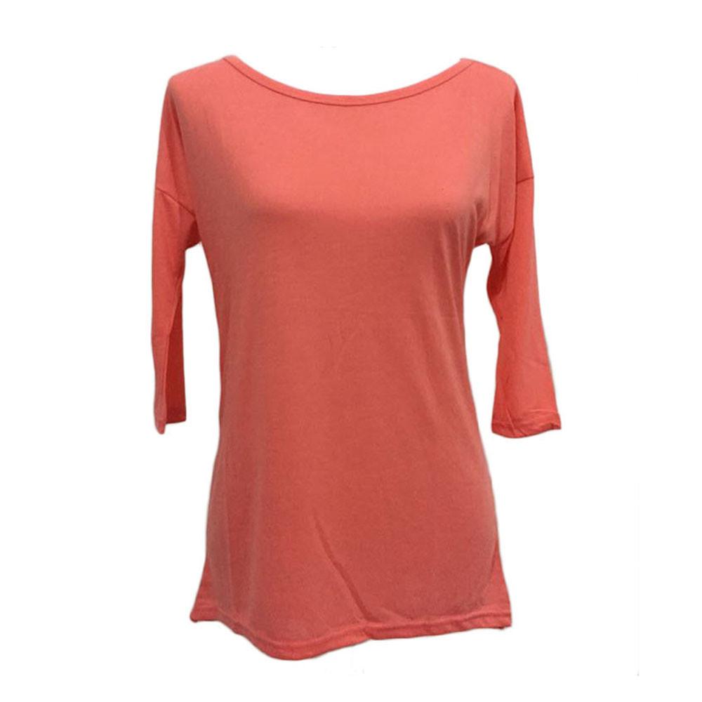 Yifan 2016 New Autumn Women T-Shirt Plus Size Casual Loose Pullover Three Quarter Sleeve Tops Shirt Casual T Shirt Female Blusas