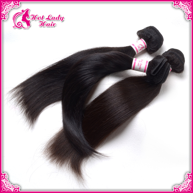 Can Be Dyed Ironed Natural Unprocessed Virgin Hair Cheap Virgin Straight Hair Natural Color Human Hair Extension(China (Mainland))