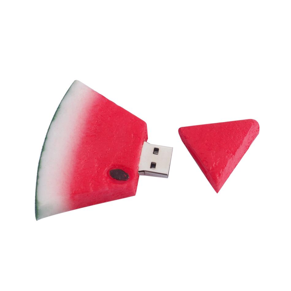 Hotsale Cute Watermelon USB Flash Drive Pen Drive 4gb 8gb 16gb 32gb 64gb External Storage Pendrive Flash Card USB Stick(China (Mainland))