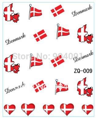 Flag design  20sheet/LOT Denmark Flag World Cup WATER DECAL NAIL ART Accessories Football Serie Nail Tattoo,22  Different design<br><br>Aliexpress