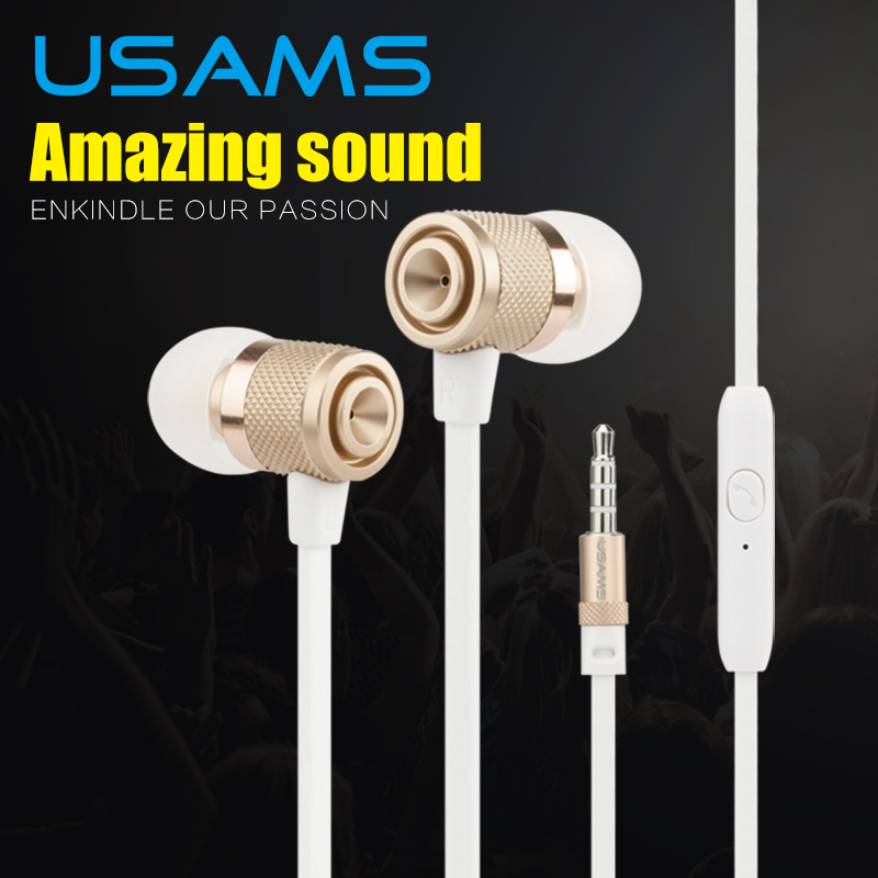 USAMS 3.5mm In-ear Waterproof Sport Earphone Earbuds For Samsung HTC Sony Xiaomi MP3 MP4 iPod PSP(China (Mainland))