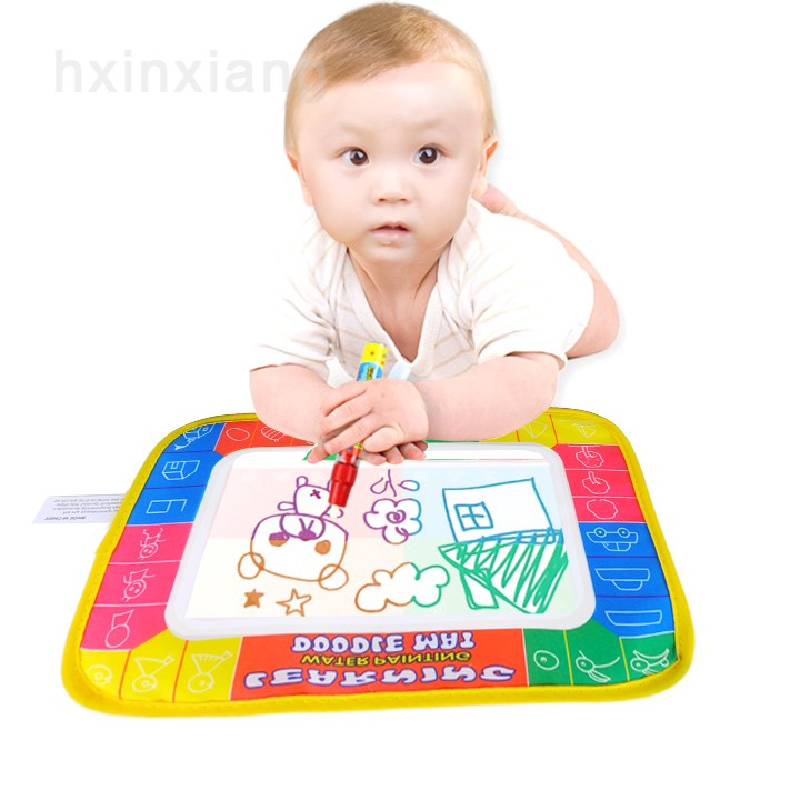 2014 Baby Play Polyester Paint Toys learning Aquadoodle Aqua Doodle Drawing Mat &1 Magic Pen aquadoodle mat 29*19cm 1938(China (Mainland))