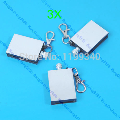 A25 hot selling 3PCS Stainless Steel Permanent Fire Metal Match Lighter With key ring free shipping