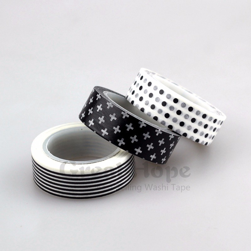 15mm * 10m Kawai 1pcs/lot Tape Patterns of flowers and Rainbow waves Japanese Paper Washi Tape 10m