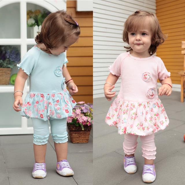 2013 gentlewomen short-sleeve clothes female child dress child one-piece dress baby princess dress set children's clothing
