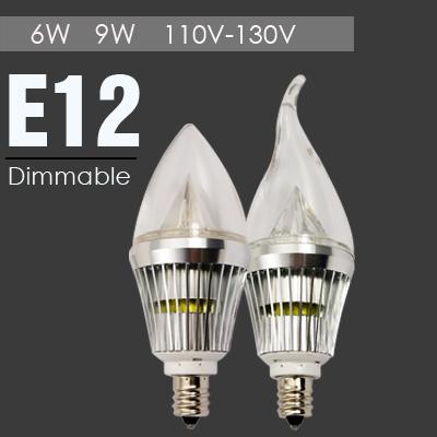 10pcs/lot 110V-130V E12 E14 LED Candel Lamp Lights 9W 6W 3W Candel LED Light Bulb Cold Warm White Candel Light LED Wholesale(China (Mainland))