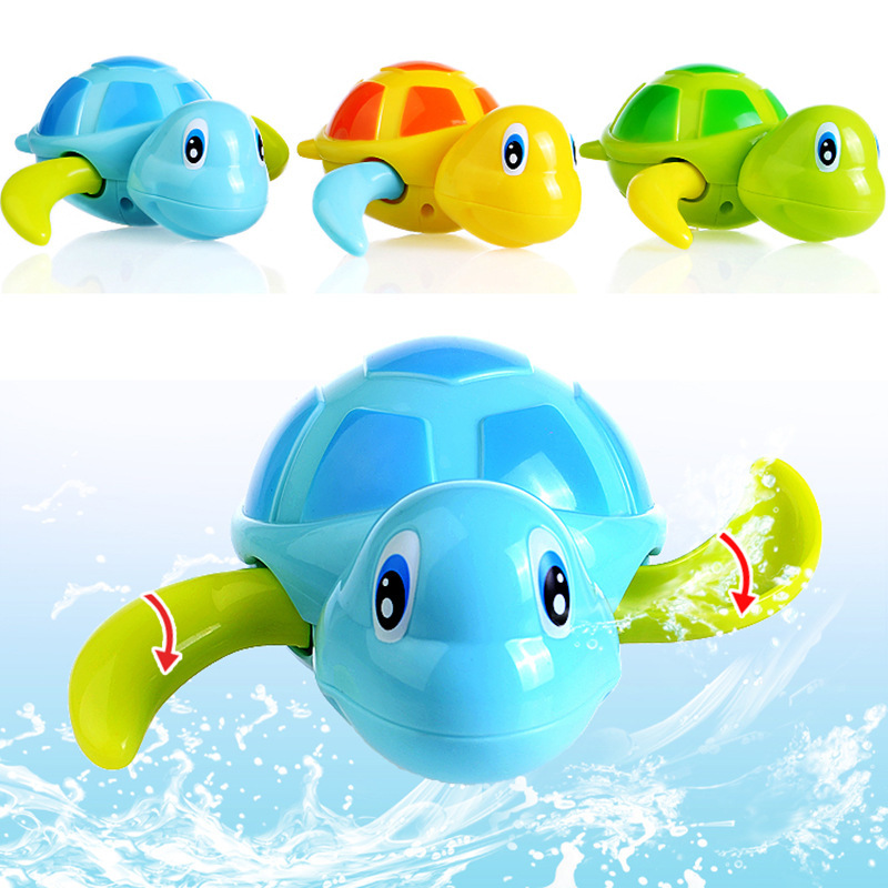 Newest Bath Time Wind up Swimming Turtles Pool Animal Toy PVC Action Figure Toys For Baby Kids Best Gifts(China (Mainland))