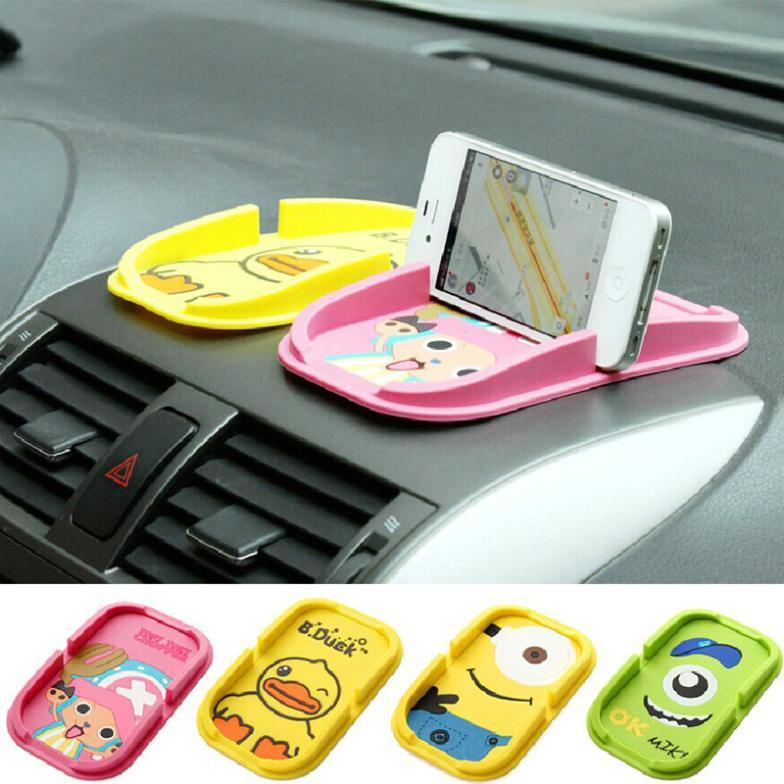Driving Essential Ornaments Cute cartoon fashion silicone phone holder Multifunctional car holder Antiskid bracket Free Shipping(China (Mainland))