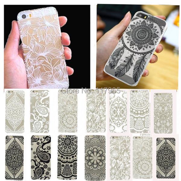 16 Style slim Plastic Flower Phone Skin For iPhone 5 5S Case Cover Ultra Beautiful floral henna Paisley Mandala Design EC485(China (Mainland))