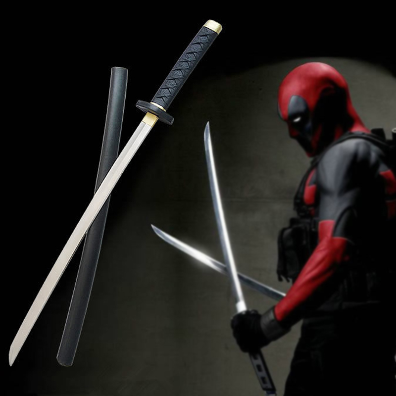 Movie Deadpool Cosplay equipment Sword stage property PU&Foam Modle 61cm long Toy (Chinese Ver.)(China (Mainland))