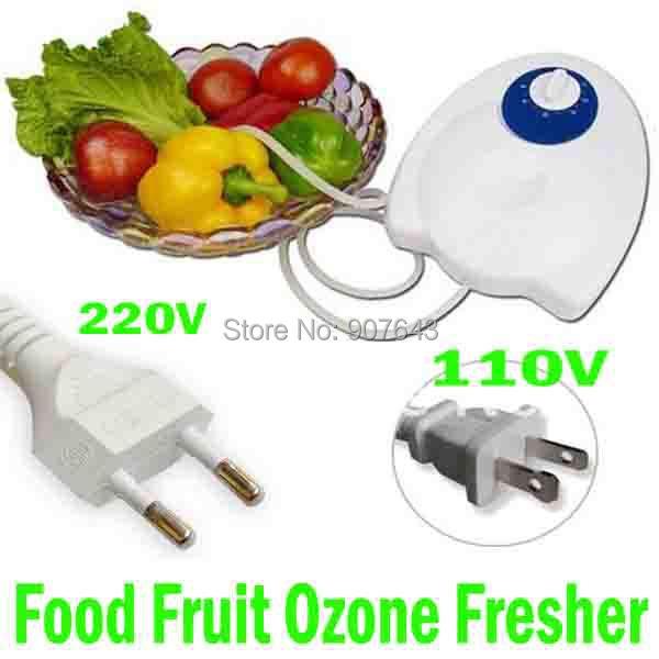 Portable 400mg/h 20W Fruit Vegetables Food Ozone Generator Water Air Sterilizer Ozone Purifier Ozonizer home use Purification(China (Mainland))