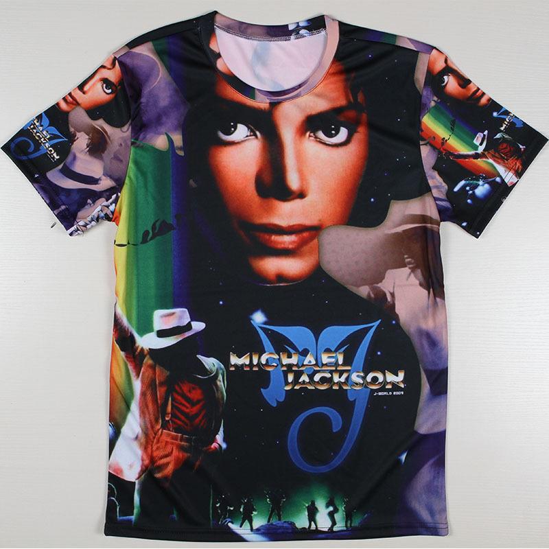 Men Michael Jackson Rock Print T-shirts The Big Bang Theory Sheldon Retro Blusas Summer Style T Shirts Euro Size Tshirts Tees(China (Mainland))